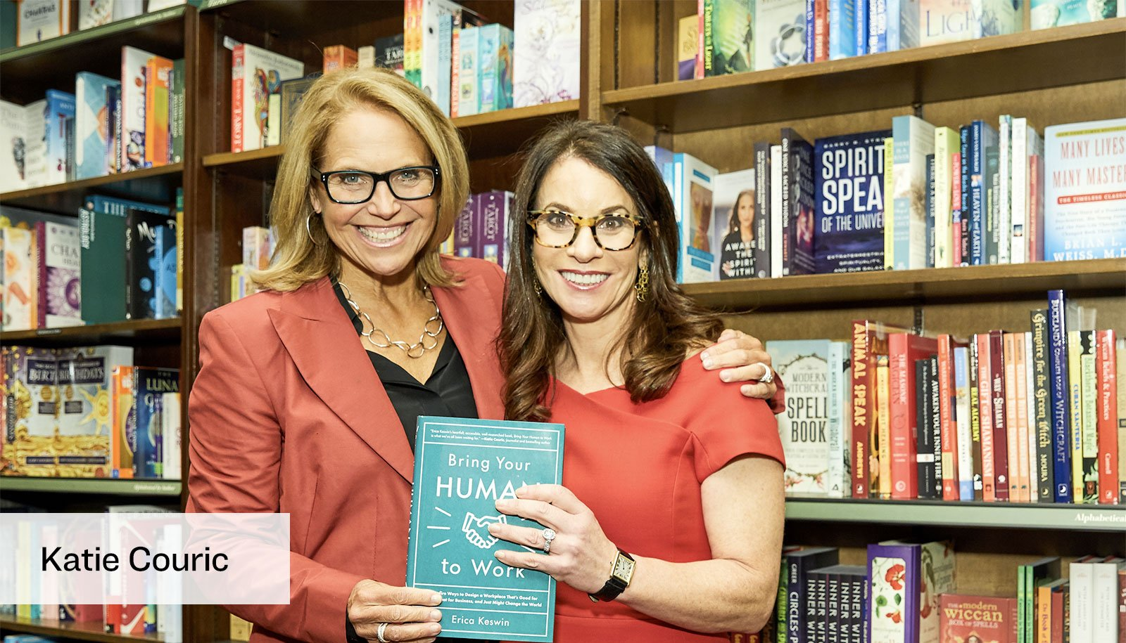 Katie Couric and Erica Keswin at the Bring Your Human to Work book launch